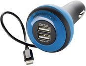 Boompods Carpod Car Charger 4 Amp Lightning blue