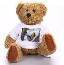 """Rudas meškiukas """"Rudis"""" su mini marškinėliais, 18cm."""