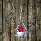 Burbulas stiklinis lašo formos (4) YQO5117-2 dia12.8x23 cm SAVEX