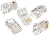 Cablexpert Modular plug 8P8C for solid LAN cable CAT5, UTP, 10 pcs. per bag