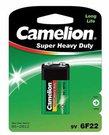 Camelion Super Heavy Duty 9V Block (6F22), Green, 1 pcs