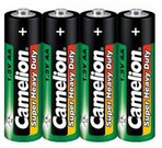 Camelion Super Heavy Duty AA (R06), Green, 4 pcs 1-pack maitinimo elementai