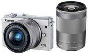 Canon EOS M100 + 15-45mm EF-M + 55-200mm EF-M (Baltas)