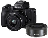 Canon EOS M50 + 15-45mm EF-M + 22mm EF-M