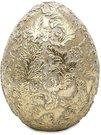 Dekoracija Kiaušinis aukso spalvos polirezin. 15x11x11 cm 128991 velyk