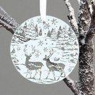 Dekoracija pakabinama stiklinė kalėdine tema D 11 cm XM2939 noakc
