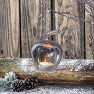 Dekoracija stiklinė Obuolys (6) YQR6229-3 8x7x11 cm SAVEX