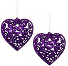 Dekoracijos kalėdinės Širdelės 2 vnt. 10 cm 871125201795 kld