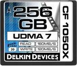 DELKIN 256GB CF 1050X - 160MB/S READ, 120MB/S WRIT
