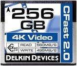 DELKIN 256GB CINEMA CFAST 2.0 - 560MB/S READ, 495M