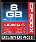 DELKIN 8GB CF 500X - UP TO 75MB/S TRANSFER SPEED