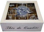 Dėžutė arbatai medinė 8x24x24 cm 77768