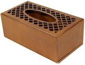 Dėžutė ištraukiamoms servetėlėms medinė ruda 9,5x25x13 cm 101462