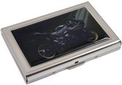 Dėžutė kortelėms su motociklo piešiniu HK4 metalinė