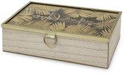 Dėžutė MDF su palmių lapais 7,5 x 24 x 16,5 cm 117326