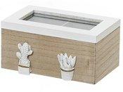 Dėžutė MDF su stikliniu dangteliu 16,8x11,8x8 2505087 (2) SAVEX