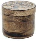 Dėžutė medinė apvali Gyvenimo medis (4)12x12 cm 1112 SAVEX