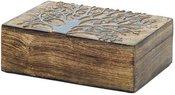 Dėžutė medinė Gyvenimo medis 25x18 cm 1115 SAVEX