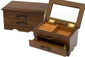 Dėžutė medinė papuošalams 58397, H:9, W:16, D:10,5 cm.