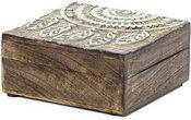 Dėžutė medinė Sapnų gaudyklė (4) 14x14 cm 1105 SAVEX