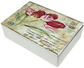 Dėžutė medinė su tulpių piešiniu 6,5x24x16,5 cm 102173