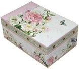 Dėžutė papuošalams 7,5x18x12 cm 102337 su rožių piešiniu pastelinių spalvų