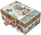 Dėžutė papuošalams 7,5x18x12 cm 102341-P77-06443 su pelėdų piešiniu