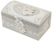 Dėžutė papuošalams kartoninė baltos rožės 10,5x20x12 cm 112605 ddm