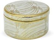 Dėžutė papuošalams keramikinė aukso sp. 9x17x17 cm 114920 ddm