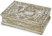 Dėžutė polirezininė su ornamentais 4 x 12 x 9,5 cm 121980