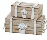 Dėžutės 2 vnt. MDF 23,5x15x9 (18x11x7) 2505091/2505092 (2) SAVEX