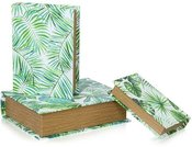 Dėžutės - knygos 3 vnt. Tropikai 35x27.5x9 (29.5x21.5x7) ( 23.5x14.5x5) SAVEX