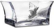Dubuo-vaza skaidraus stiklo dekoruota metalu 10x20x13 cm 104269