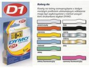 Dymo D1 9mm Black/White labels 40913