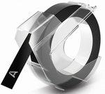Dymo tape 9mm 3m Glossy, black