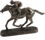 Figūrėlė jojikas su žirgu bronzos spalvos H:19 W:27 D:6 cm 59078