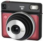 Fujifilm instax SQUARE SQ6 (raudonas) + 10 vnt. Fotoplokštelių