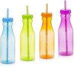 Gertuvė 500 ml su šiaudeliu Butelis plastikinė AM3037 (4 spalvų) ddm