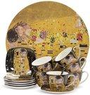 Indų rinkinys Klimt paveikslo Bučinys motyvais 7x12,5x9/2x14x14 cm 124088