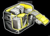 Kata GDC/DPS foto-video krepšys DC-443