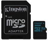 Kingston Canvas Go! UHS-I 32 GB, MicroSDHC, Flash memory class 10, SD Adapter