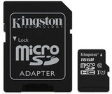 Kingston Canvas Select UHS-I 16 GB, MicroSDHC, Flash memory class 10, SD Adapter