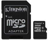 Kingston Canvas Select UHS-I 64 GB, MicroSDXC, Flash memory class 10, SD Adapter