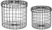 Krepšiai metaliniai daiktams 2 vnt. 41.5*41.5*39.5 TOYJ18-167/169 (2) SAVEX