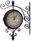 Laikrodis pakabinamas šoninis 25*8*24cm 65335 metalinis juodas