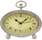 Laikrodis pastatomas metalinis sendintas 14x15x4 cm ovalus 113723
