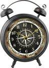 """Laikrodis pastatomas """"Žadintuvas"""" juodas H:25 W:19 D:8 cm W2681"""