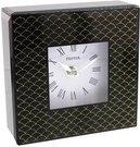 Laikrodis pastatomas stiklinis juoda/aukso spalva he458ck išp.