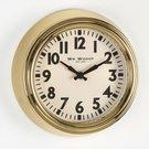 Laikrodis sieninis aukso spalvos metalinis 21,5 h 21,5 w 7 d cm W7892 Viddop išp