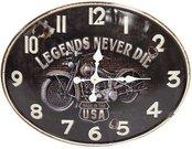 Laikrodis sieninis LEGENDS NEVER DIE 38x48x3 cm 100608